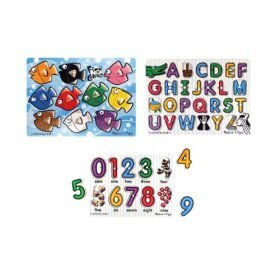 Cheap Fun Melissa & Doug Fish Colors, ABC and Numbers Wooden Mix n Match Puzzel (B000FQ9I6G)