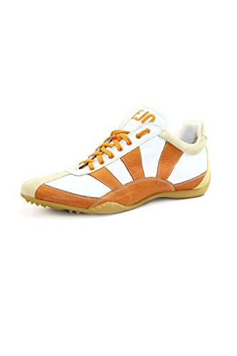 Kejo Akane Rising Sun Genuine Leather Sneakers White/Orange EU44