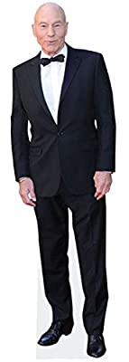 Patrick Stewart Cardboard Cutout (life size and mini size). Standee. Stand Up.
