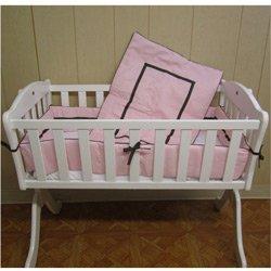 Friendship Cradle Bedding - Color: Pink Size: 15 x 33
