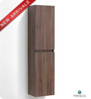 Fresca Light Walnut Bathroom Linen Side Cabinet w/ Two Cabinets - FST8040WL