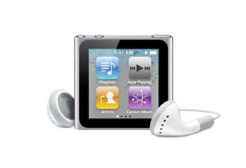Apple iPod nano 16 GB Silver (6th Generation) NEWEST MODEL