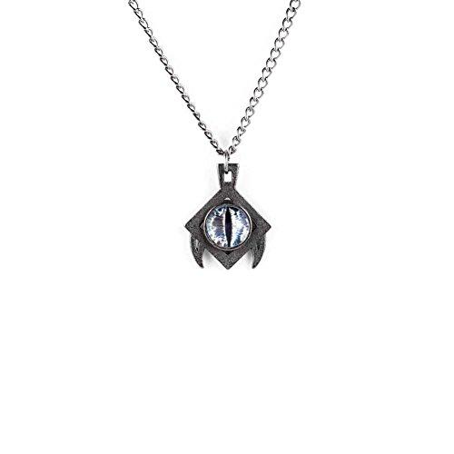 La canaglia e il lupo-Draco collana in acciaio ardesia-3d stampato gotico gioielli