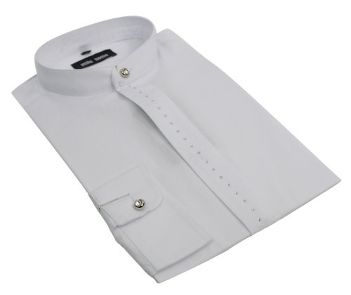 Mens Chinese Grandad Collar Formal Casual Button Shirt White Black Grey Diamonte & Plain