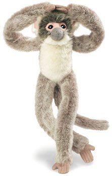 "Wild Republic 17"" Hanging Monkey Asustado - 1"