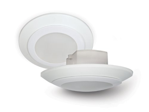 9.5 Watt - Dimmable - LED Downlight or Surface Mount Light - 450 Lumens - 3000K Warm White - Fits 4 in. Can or 4 in. J-Box - Medium Base - Lighting Science GLP4WWMTL120CCWH (Electrical J Box compare prices)