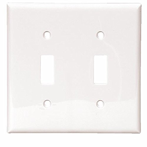 Double Gang Nylon Switch Wall Plate-WHT SWITCH WALL PLATE