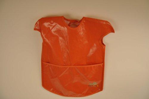 Child's / Toddlers Art Smock, Burnt Orange Color, with Velcro Neck Enclosure