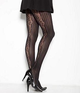Pinstripe Lace Tights