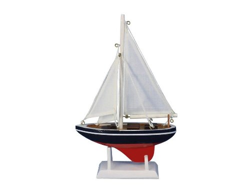 """Handcrafted Nautical Decor American Sailer 9"""" Handcrafted Model Ship, Fully Assembled (Not A Kit)"""