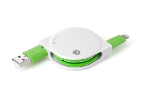 【最小設計Lightningコネクタ採用】TRAVEL BIZ Lightningコネクタ対応iPod/iPhone/iPad専用 急速充電&データ転送巻き取り式USBケーブル 色:バニラホワイト[Apple社公式ライセンス取得]