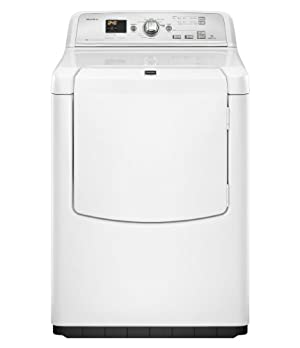 Maytag MEDB750YW Bravos 7.3 Cu. Ft. White Electric Front Load Dryer