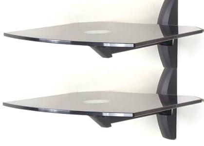 The Best  Invision® Ultra-Modern AV Wall Mounted Glass Shelves