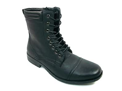 mens black inspired calf high lace up