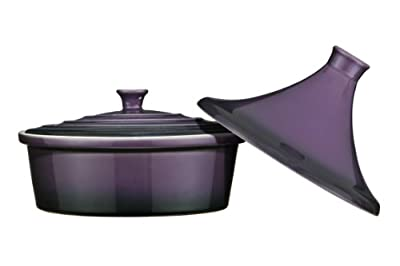 Premier Housewares OvenLove Stoneware 2-in-1 Tagine/ Casserole Dish, 26 Diameter x 22 cm Height, Matt Black_Parent