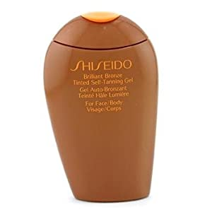 Exclusive By Shiseido Brilliant Bronze Tinted Self-Tanning Gel - Medium Tan (For Face / Body )150ml/5.4oz
