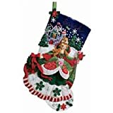 Bucilla 18-Inch Christmas Stocking Felt Applique Kit, 86140 Princess