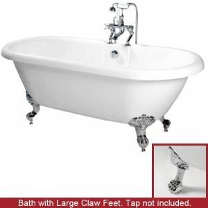 Trueshopping Double Ended Freestanding Roll Top Bath Modern