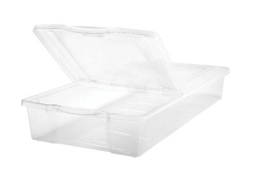Iris Split-Lid Underbed 5-Piece Set Storage Box, 58-Quart front-8978