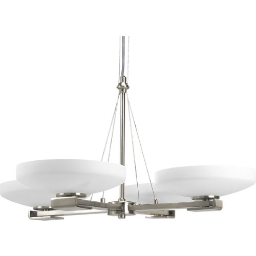 Progress Lighting P4264-09 8-Light International Chandelier, Brushed Nickel