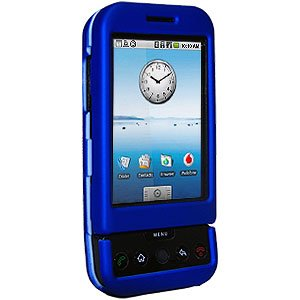 Amzer Rubberized Snap-On Crystal Hard Case for T-Mobile G1/HTC Dream - Blue (T Mobile G1 compare prices)