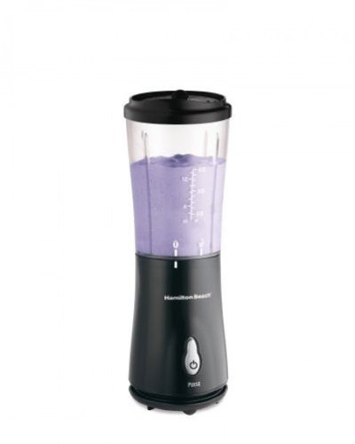 Hamilton Beach Personal Blender with Travel Lid, Black, 51101B, New