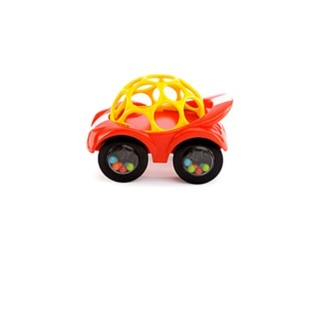 Oball Rattle and Roll Toy Car (Red) - 1