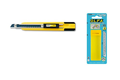 Olfa Pa-2 9Mm Professional Standard-Duty Cutter With Multi-Blade Auto-Loading Function With 10 Free Spare Blade