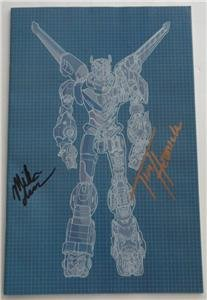 SDCC 2016 EXCLUSIVE SIGNED VOLTRON LEGENDARY DEFENDER #1 Hedrick & Iverson