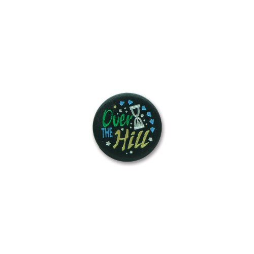 "Over-The-Hill Satin Button 2"" Party Accessory - 1"