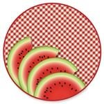 "Axiom 7"" Dessert Plates Watermelon 8ct"