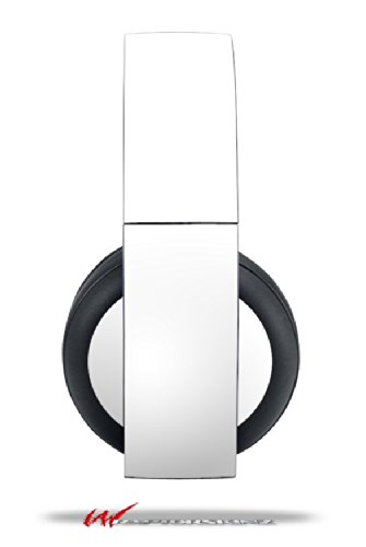 Solids Collection White - Decal Style Vinyl Skin Fits Original Sony Ps4 Gold Wireless Headphones (Headphones Not Included)