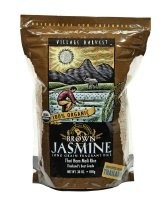 Village Harvest Organic Brown Jasmine Long Grain Fragrant Rice, 30-Ounce Bags (Pack of 6)