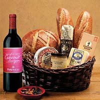 Taste Of Sf Gift Basket With Parducci Cabernet Sauvignon Wine. 532