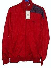 Reebok Track Jacket Top Large Mens Flash Red