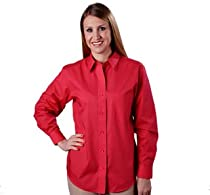 Foxcroft Wrinkle Free Solid Shirt, Classic Fit, Red, Size 24W