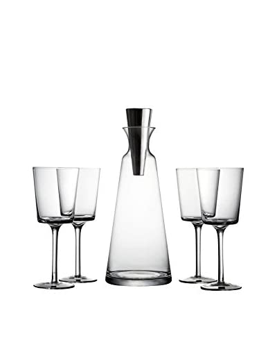 Fitz and Floyd Lincoln 5 Piece Wine Set, Clear