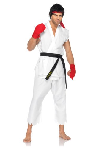 Leg Avenue Mens Street Fighter Ryu Edition Theme Party Fancy Dress Costume