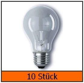 10x Osram Glühbirne AGL Glühlampe 60W E27 matt 60 Watt