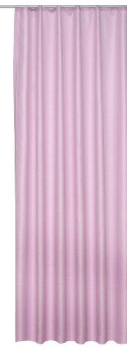 Übergardine Dekoschal #256 Vorhang blickdicht / lichtdurchlässig Kräuselband Gardine moderne Unifarbe (flieder rosé, Kräuselband / Universalband)
