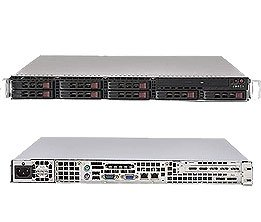 Supermicro 1U Server SYS-1015B-M3B Barebone Single LGA 775 Socket ZIF 8x2.5'' SAS drive trays Dual PCI-e Gigabit Controller Integrated Graphics 560W 85%+ high-efficiency power supply IPMIFull Warranty