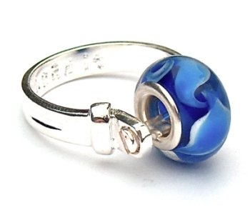Divine Beads Stylish Silver Plated Bead it Ring