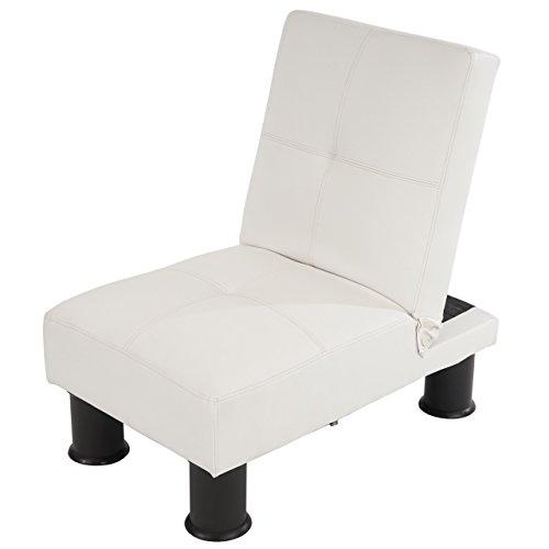 Sessel-Relaxliege-Sofa-Schlafcouch-Gstebett-Melbourne-II-wei-Kunstleder