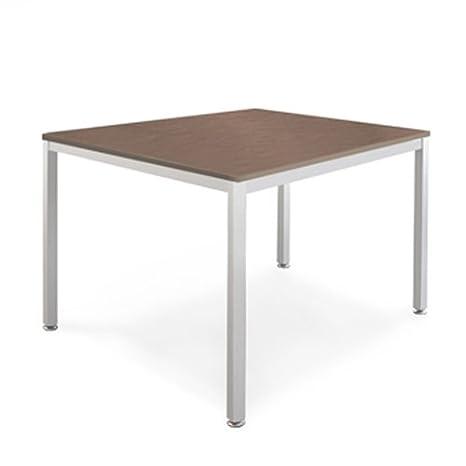 weko Systemmöbel baureihe e AZ-TYP-18D Tisch, Holz, nußbaum, 80 x 80 x 72 cm