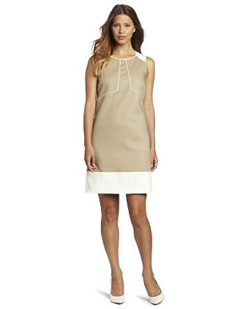 Anne Klein Women's Shift Dress, Beige, 2