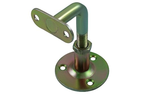 No.238 Adjustable Handrail Brackets (75mm - 90mm) 1 Each YELLOW PASSIVATED