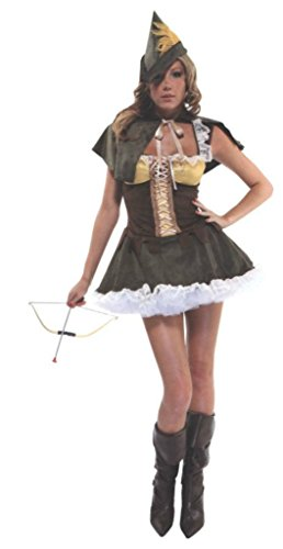 Forplay Womens Sassy Swindler Robin Hood Girl Outfit Fancy Dress Sexy Costume