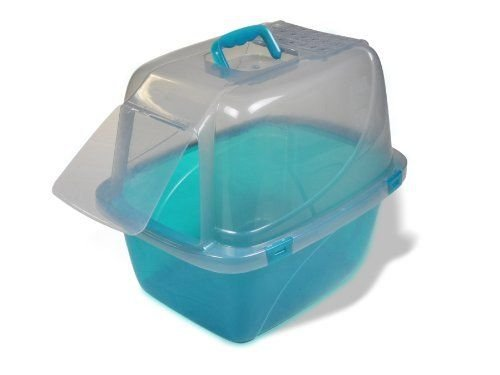 Cat Supplies Van Ness Large Translucent Enclosed Cat Litter Pan, Assorted Colors New (Auto Cleaning Cat Liter Box compare prices)