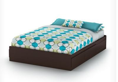 South Shore Fusion Queen Mates Bed (60'') In Chocolate front-629100