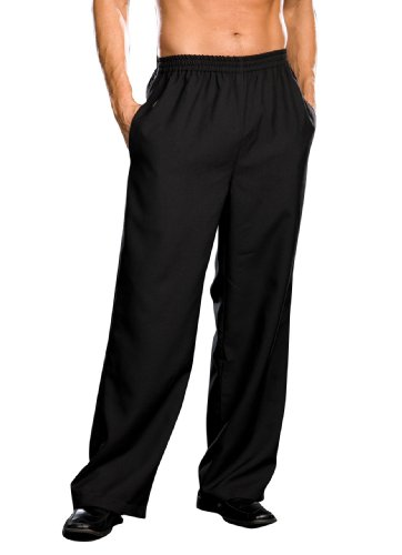 Dreamgirl Men's Elastic Waist Basic Pant, Black, Large (Renaissance Pants Men compare prices)